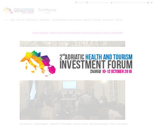 Adriatic Health and Tourism Investment forum